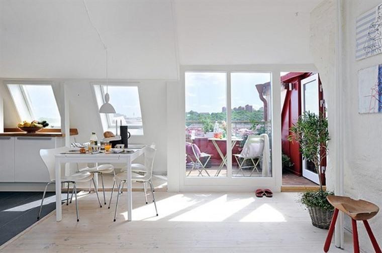 decoracion apartamentos pequeños áticos