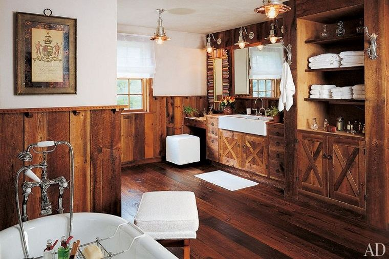 Baños Rusticos Grandes:Muebles de baño modernos de estilo rústico – 49 modelos -
