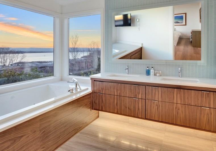 Armarios de ba o y muebles lavabo de madera 50 ideas Ideas muebles de bano