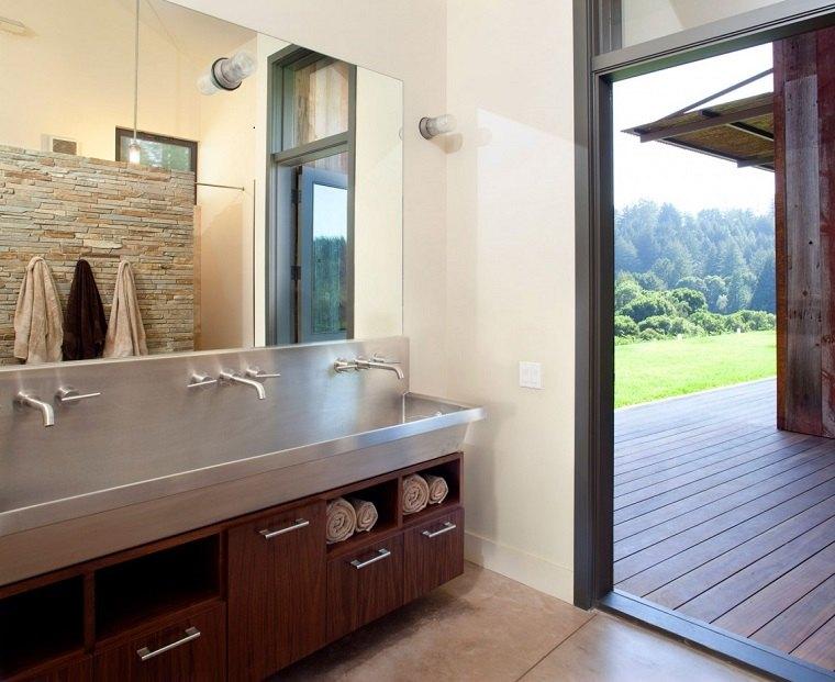 Muebles de baño modernos de estilo rústico   49 modelos