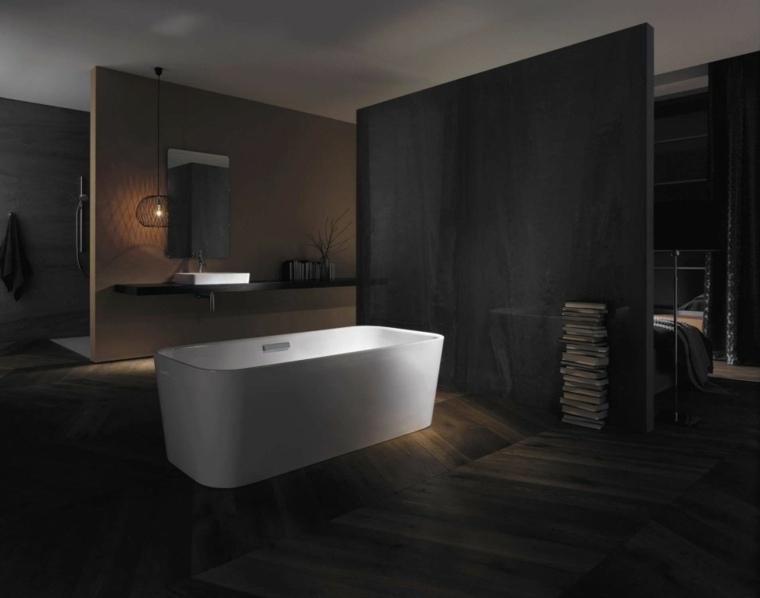 Cuartos de ba o de estilo minimalista 50 dise os oscuros - Cuartos de bano minimalistas ...