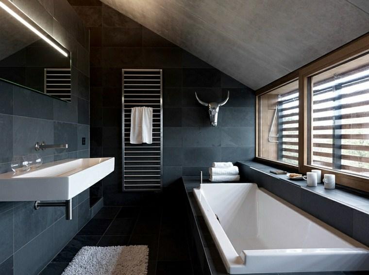 Baño Pequeno Original:Original baño pequeño con suelo de madera