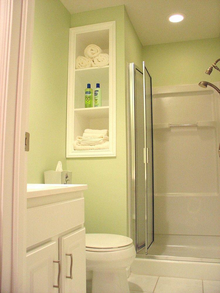 baño pequeño moderno verde