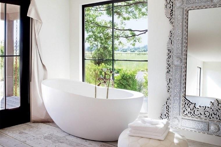 Baño Moderno Rustico:baños modernos bañeras barca