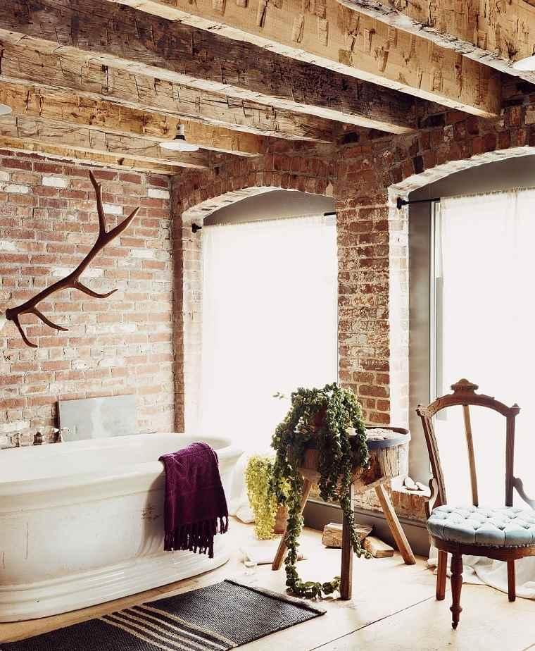 Ba os estilo rustico moderno for Estilos de banos modernos