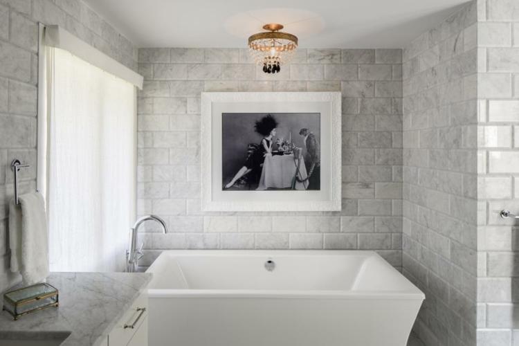 baños con bañera ideas cuadros imagenes metales