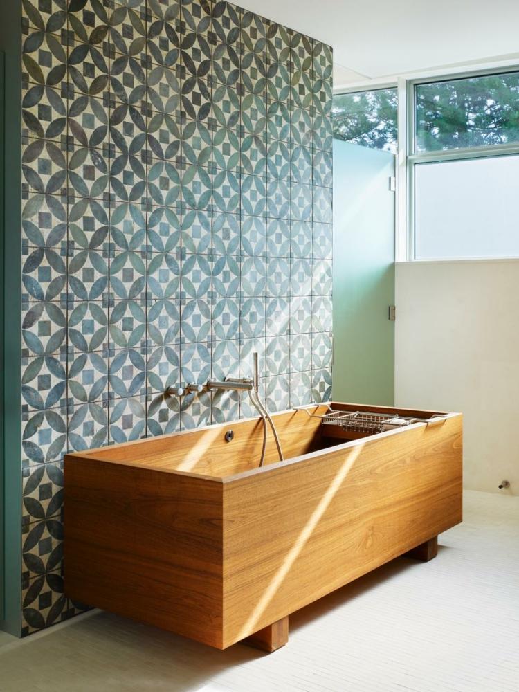 baños con bañeras ideas diseños mural cristales