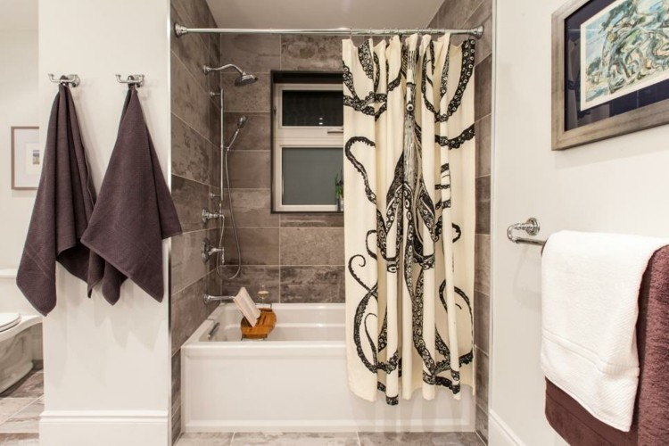 baños con bañeras ideas tradicional marrones cuadros