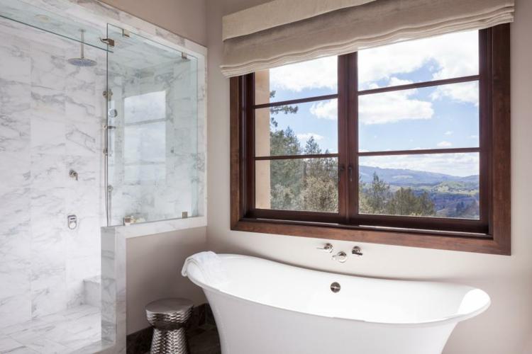 baños con bañeras ideas diseños vista paredes