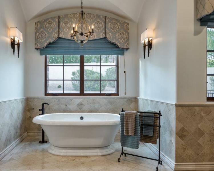 baños con bañera ideas ventanas telas telas