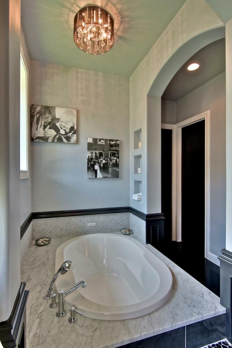 baños con bañeras ideas verticales estilos calido