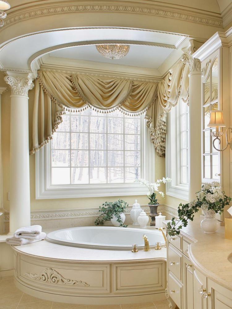 baños con bañeras diferentes calido columnas