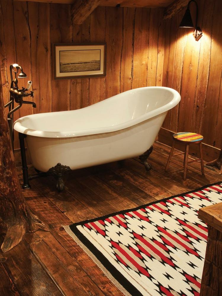 baños con bañeras rustico diferentes colores