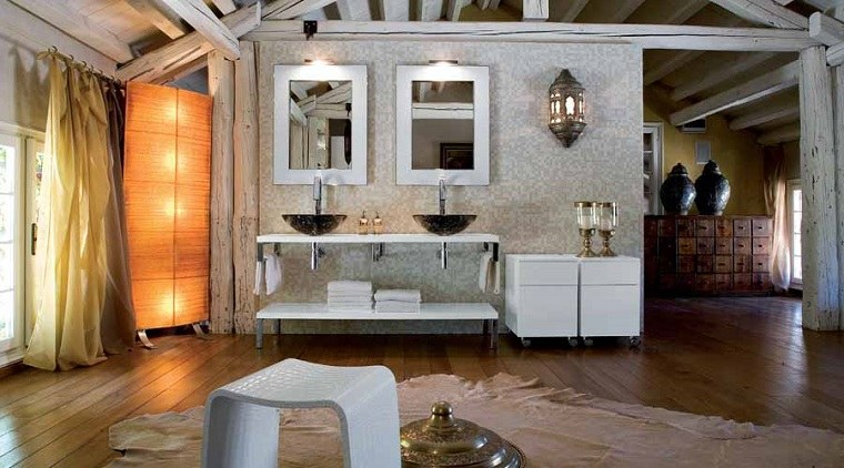 Muebles de ba o modernos de estilo r stico 49 modelos for Disenos de banos rusticos