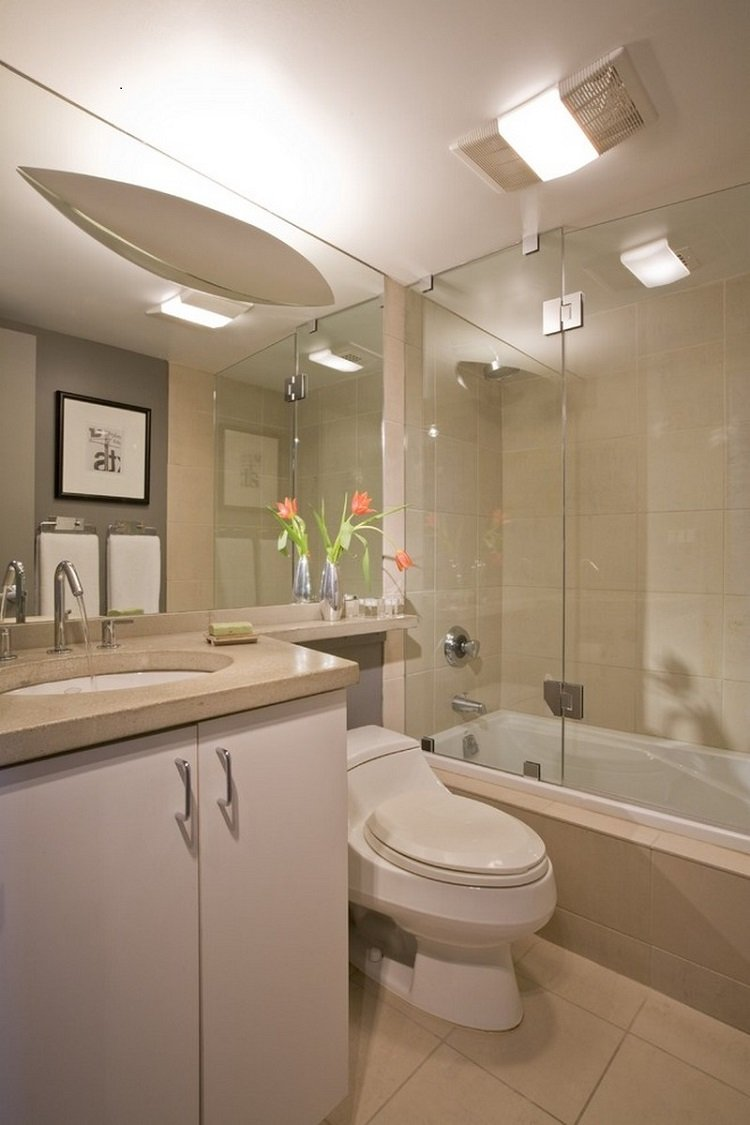 cuarto baño pequeño beige