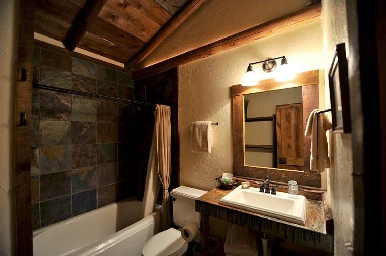 Baños Rusticos En Madera:Muebles de baño modernos de estilo rústico – 49 modelos -