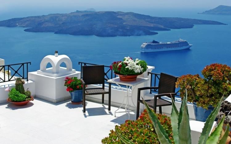 balcon jardines decorado diseños mares barcos