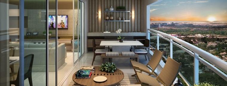 diseño balcón groumet moderno