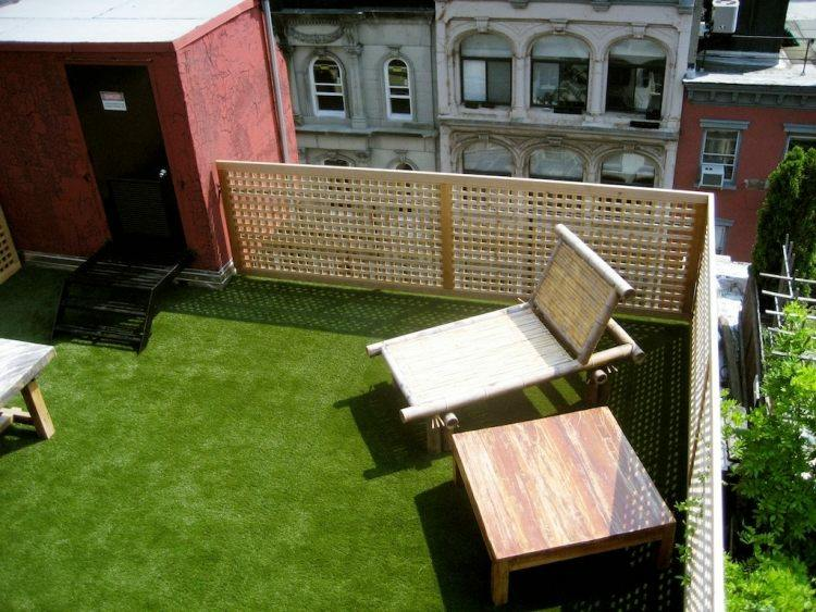 Cesped artificial para balcones y terrazas 25 ideas - Cesped artificial terraza ...