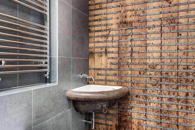 bano original lavabo diseno rustico ideas