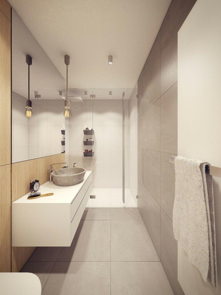 baños modernos fotos estrecho ducha ideas