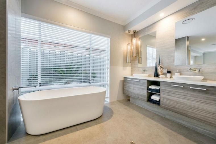 baños modernos fotos lamparas preciosas ideas