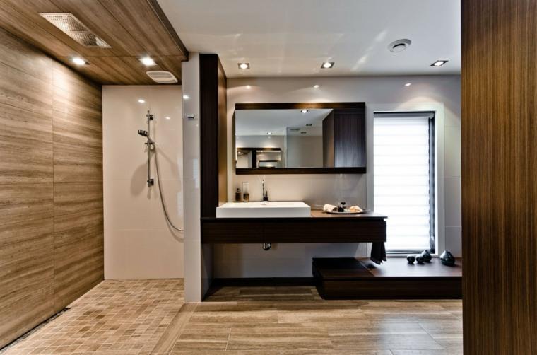 baños modernos fotos lavabo negro ducha ideas