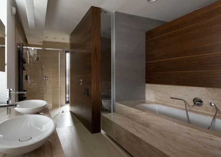 baños modernos fotos paredes madera ideas