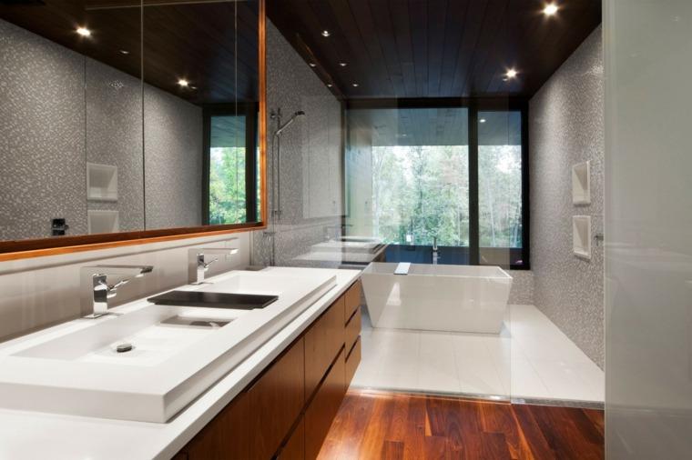 baños modernos fotos separado mampara cristal ideas