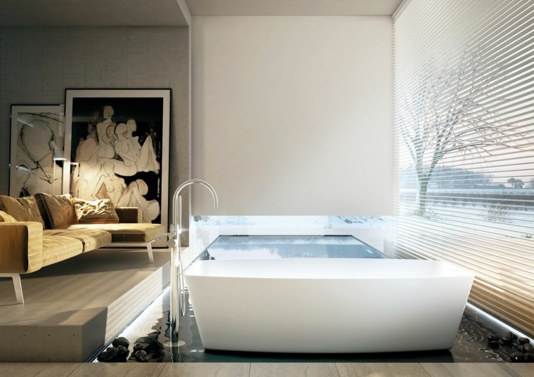 Baños Modernos Decorados Con Mosaicos ~ Dikidu.com
