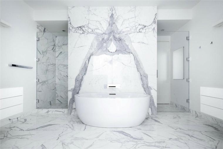 banos modernos fotos suelo paredes marmol blanco ideas