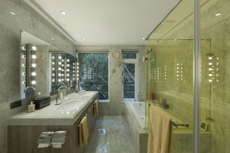 baños modernos fotos suelo paredes marmol ideas