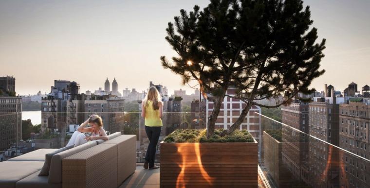 barandilla cristal arbol terraza original ideas
