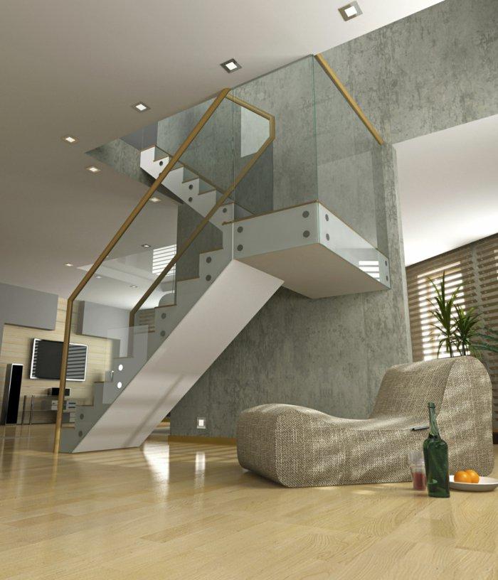 Barandillas vidrio y otros materiales 50 escaleras de ensue o - Barandillas para escaleras interiores modernas ...