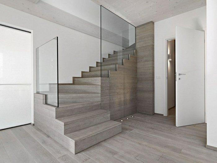 barandillas vidrio estilos maderas naturales blanco