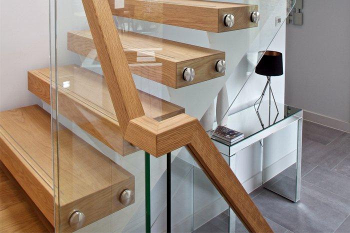 barandillas vidrio ideas interiores hogares fijadores lamparas