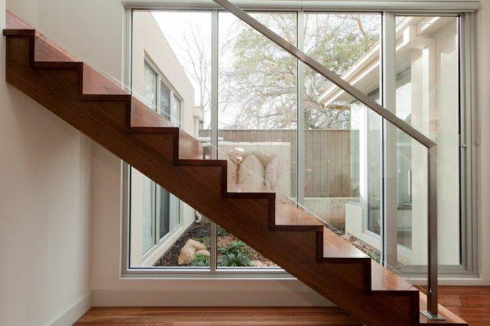 barandillas vidrio modernas jardines ideas verdes blanco