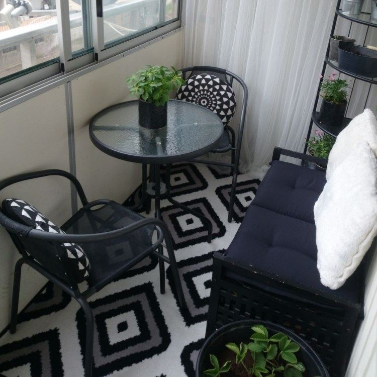 Belleza pura para el balc n en 50 ideas de muebles - Muebles para balcones pequenos ...