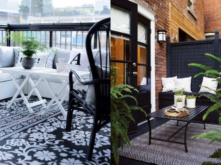 belleza balcon pequeno dos opciones blanco negro ideas