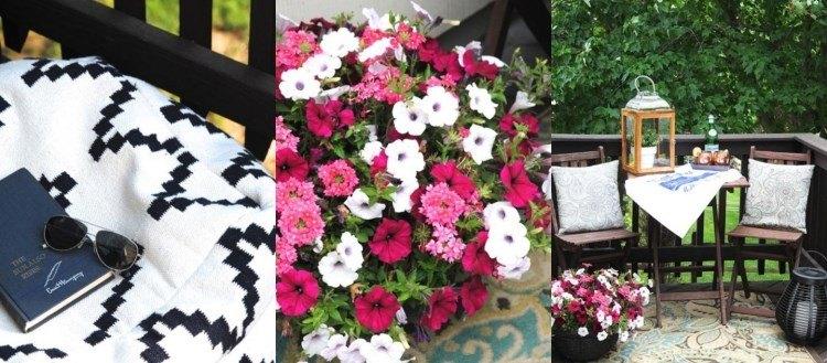 belleza balcon pequeno flores muebles ideas