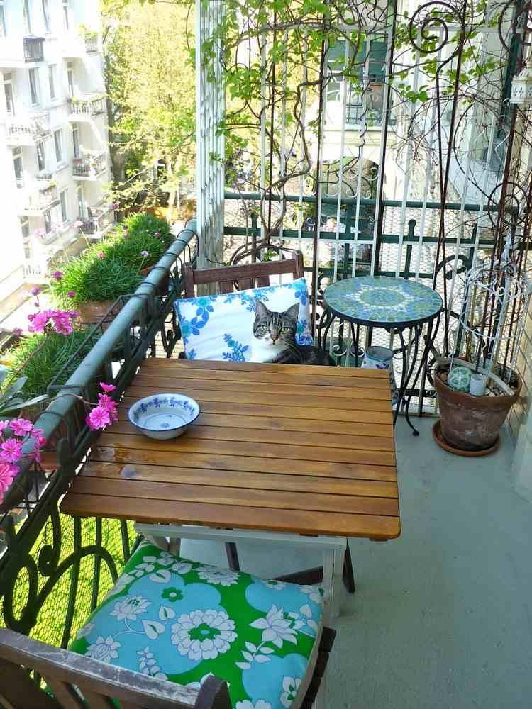 Belleza pura para el balc n en 50 ideas de muebles for Muebles de balcon