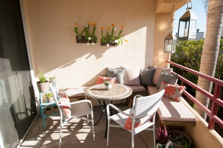 Belleza pura para el balc n en 50 ideas de muebles for Muebles para balcon