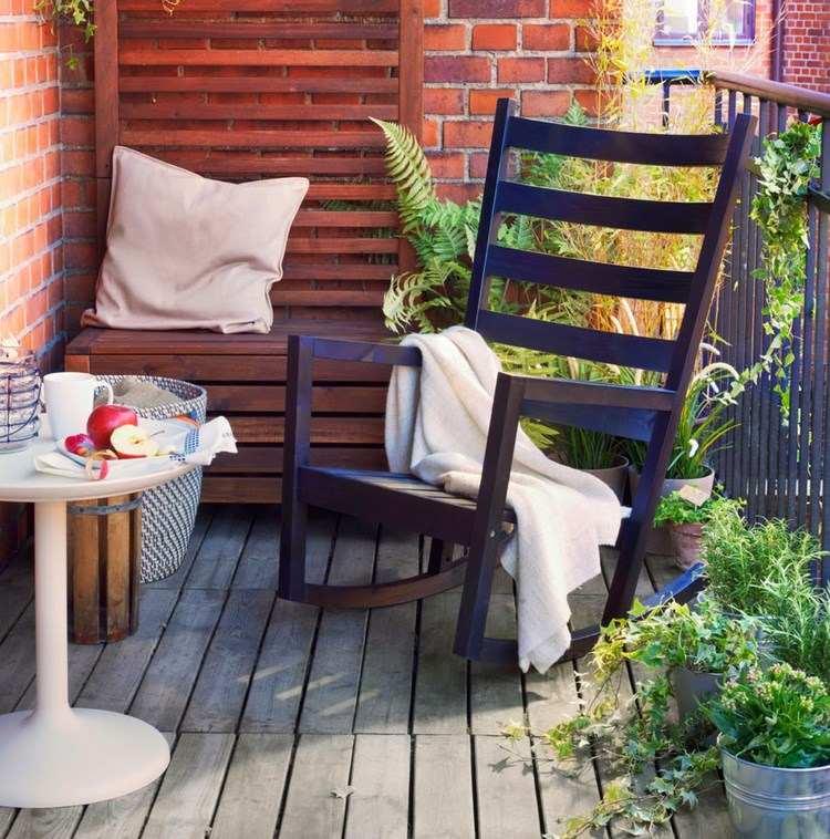 belleza balcon pequeno sillon balanceante ideas