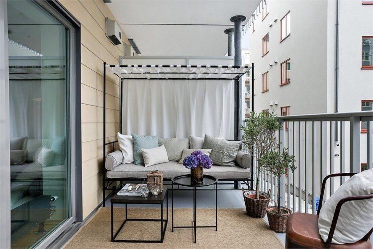 belleza balcon pequeno sofa dosel ideas