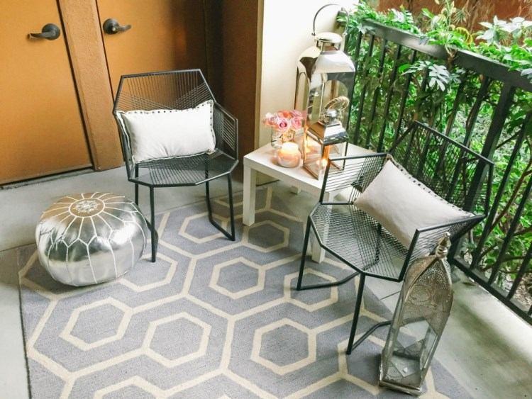belleza pura balcon pequeno mesa blanca ideas