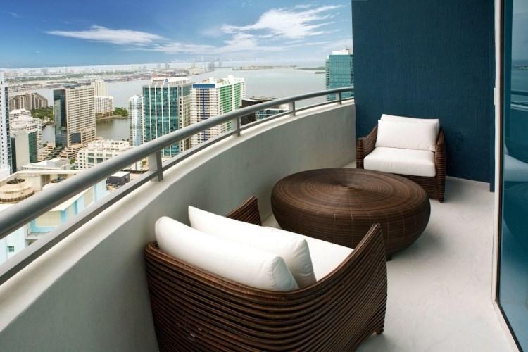 belleza pura balcon pequeno mesa rattan redonda ideas