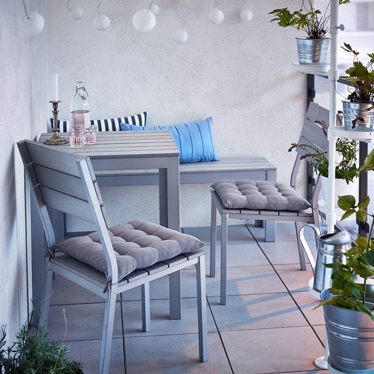 belleza balcon pequeno siilas grises ideas