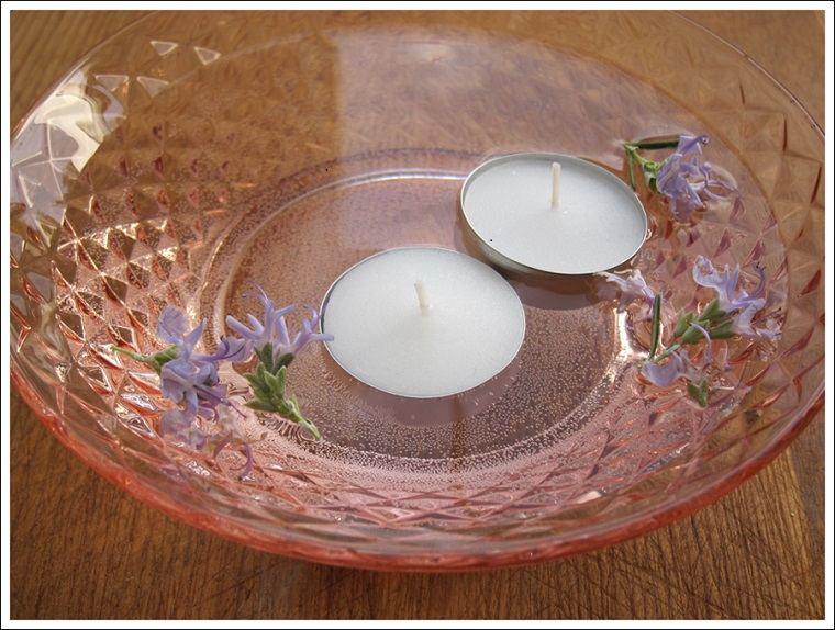bol color rosa velas blancas