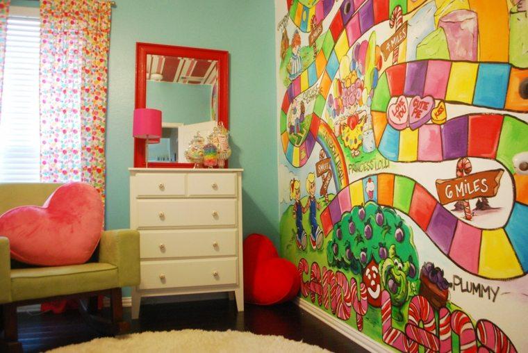 bonita decoración cuarto infantil