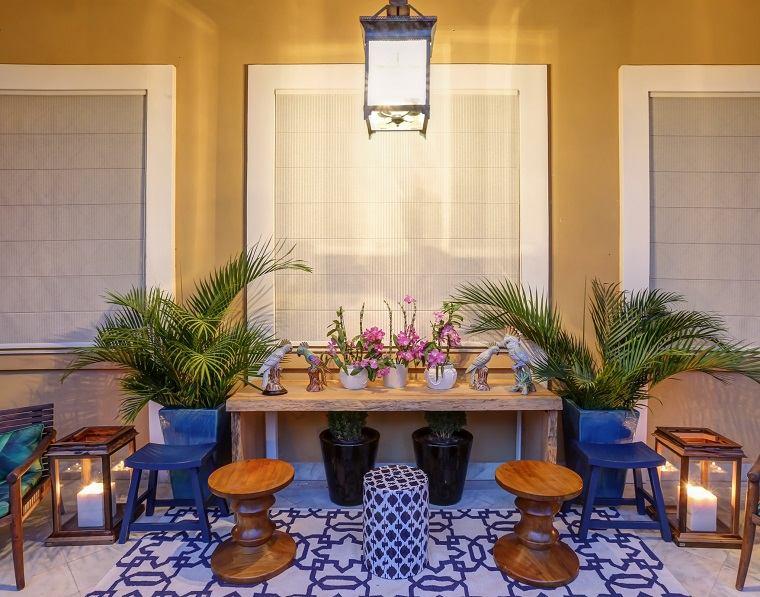 bonita decoración terraza muebloes